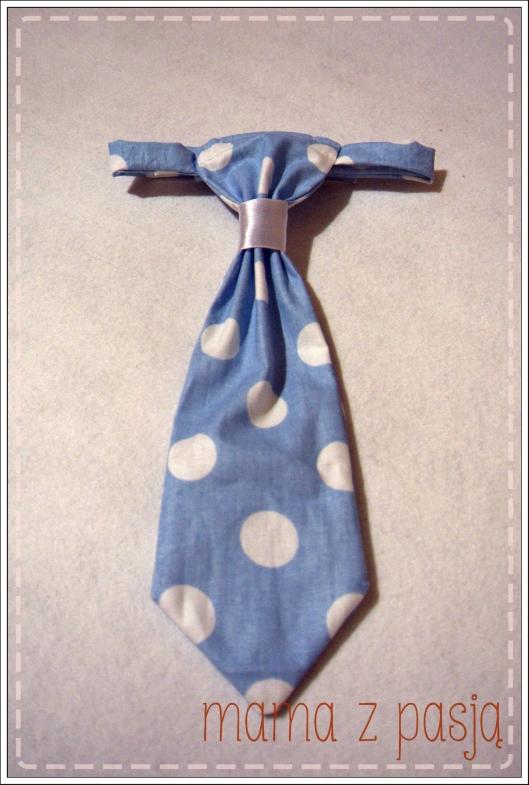 krawat niebieski